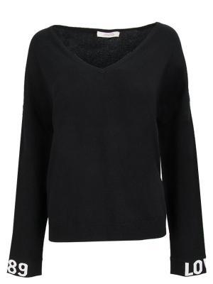 Кашемировый пуловер DOROTHEE SCHUMACHER. Цвет: черный