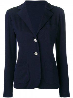 Пиджак Eternals тонкой вязки Agnona. Цвет: синий