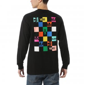 Лонгслив Vans X MoMA Branded Long Sleeve. Цвет: черный