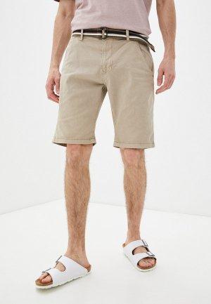 Шорты Indicode Jeans. Цвет: бежевый