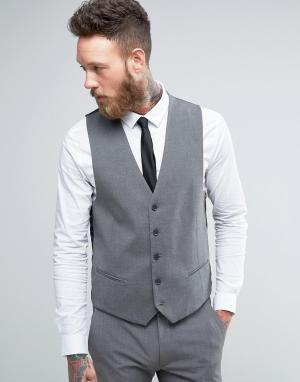 Серый облегающий жилет New Look