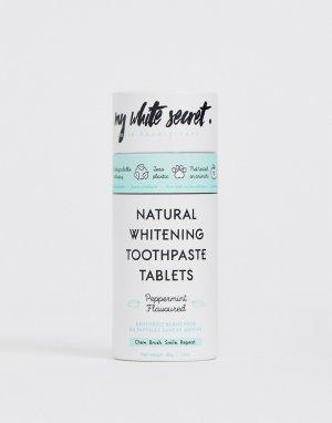 Натуральная отбеливающая зубная паста в таблетках -Бесцветный My White Secret