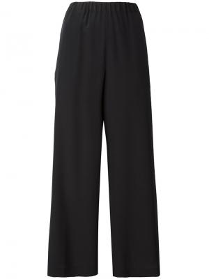 Укороченные брюки прямого кроя Aspesi. Цвет: черный