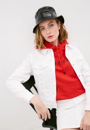Куртка джинсовая Calvin Klein. Цвет: белый