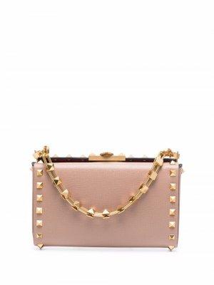 Мини-сумка с декором Rockstud Valentino Garavani. Цвет: нейтральные цвета