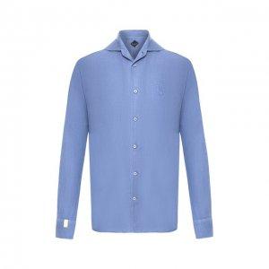Льняная рубашка Billionaire. Цвет: синий