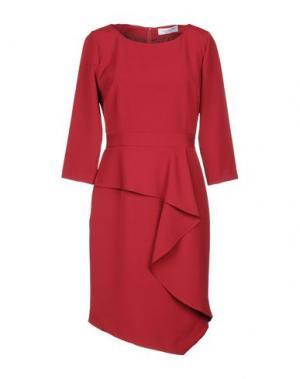 Платье до колена ANNA RACHELE. Цвет: красно-коричневый
