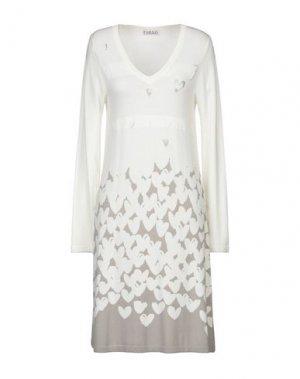 Короткое платье FUEGO WOMAN. Цвет: слоновая кость