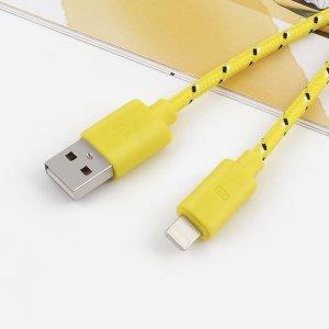 1шт плетеный кабель для передачи данных iPhone SHEIN. Цвет: жёлтые