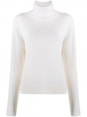 Трикотажный пуловер с высоким воротником Aspesi. Цвет: белый