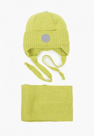Шапка и шарф Prikinder. Цвет: зеленый