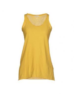 Майка DEVOTION. Цвет: желтый