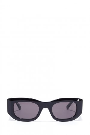 Прямоугольные черные солнцезащитные очки Balenciaga. Цвет: черный