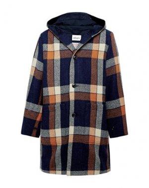 Пальто HARRIS TWEED. Цвет: темно-синий