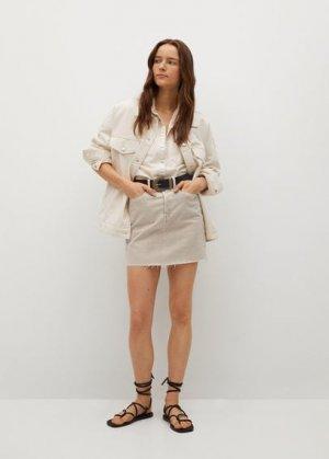 Джинсовая мини-юбка - Rachel Mango. Цвет: бежевый