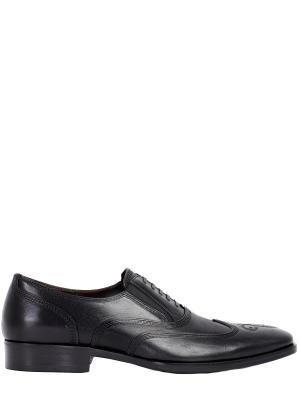 Кожаные туфли-оксфорды Bruno Magli. Цвет: черный