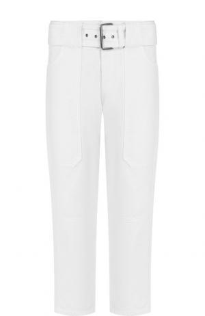 Укороченные джинсы прямого кроя с поясом Proenza Schouler. Цвет: белый