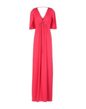 Длинное платье HALSTON. Цвет: красный