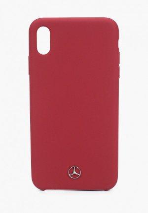 Чехол для iPhone Mercedes-Benz XS Max, Silicone line Red. Цвет: бордовый