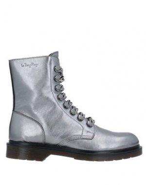Полусапоги и высокие ботинки LE DANGEROUGE. Цвет: свинцово-серый