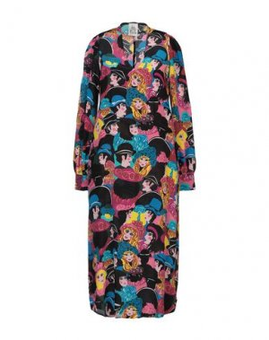 Платье длиной 3/4 ATTIC AND BARN. Цвет: фуксия