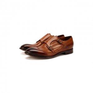 Кожаные монки Lemargo. Цвет: коричневый