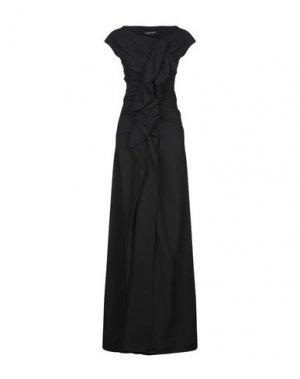 Длинное платье PLEIN SUD. Цвет: черный
