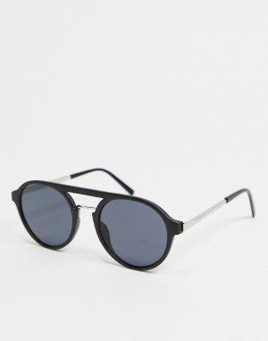 Черные солнцезащитные очки-авиаторы -Черный цвет River Island