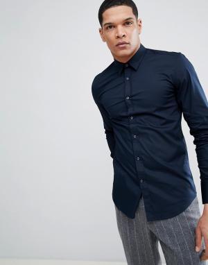 Темно-синяя эластичная рубашка -Темно-синий Antony Morato