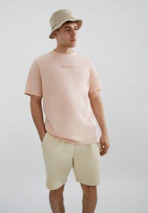 Футболка Pull&Bear. Цвет: розовый