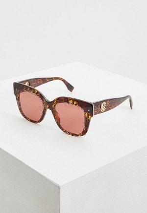 Очки солнцезащитные Fendi FF 0359/G/S H7P. Цвет: коричневый