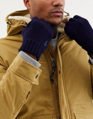 Темно-синие шерстяные перчатки -Темно-синий Polo Ralph Lauren