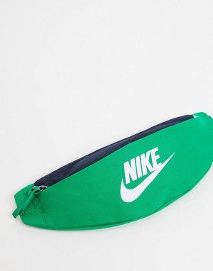 Сине-зеленая сумка-кошелек на пояс -Зеленый Nike