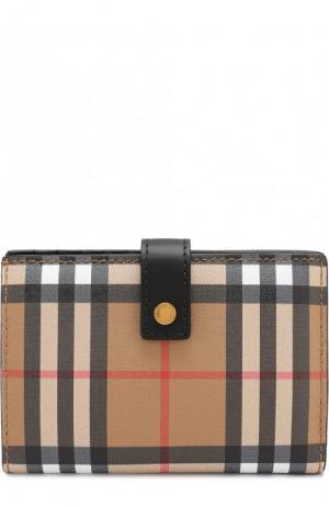 Кожаный кошелек в клетку Vintage Check Burberry. Цвет: черный