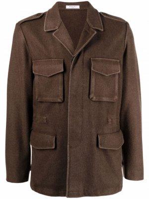 Куртка-рубашка с карманами Boglioli. Цвет: коричневый