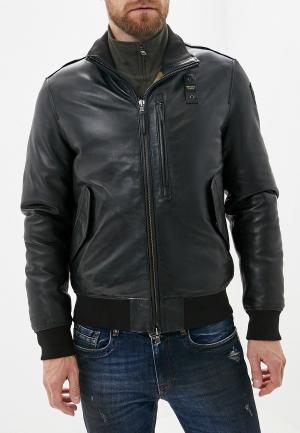 Куртка кожаная Blauer. Цвет: черный