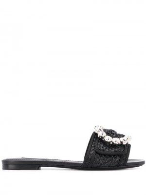 Сандалии Ciabatta Dolce & Gabbana. Цвет: черный