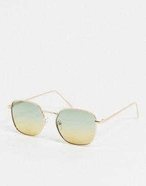 Квадратные солнцезащитные очки -Зеленый Only & Sons