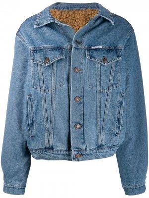 Джинсовая куртка с подкладкой Forte Dei Marmi Couture. Цвет: синий