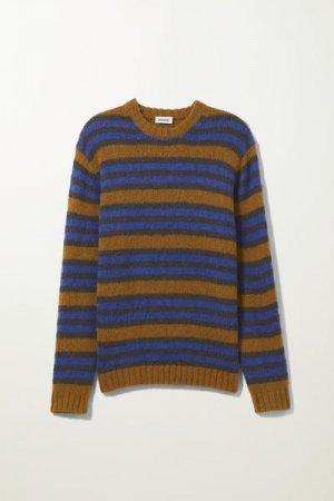Полосатый джемпер Kalle Weekday. Цвет: разноцветный, коричневый, синий