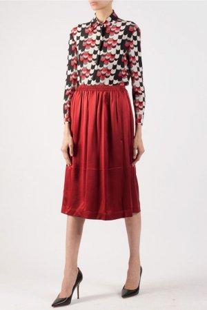 Рубашка Prada. Цвет: красный/черный/белый