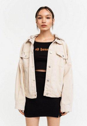 Куртка джинсовая Befree Exclusive online. Цвет: бежевый