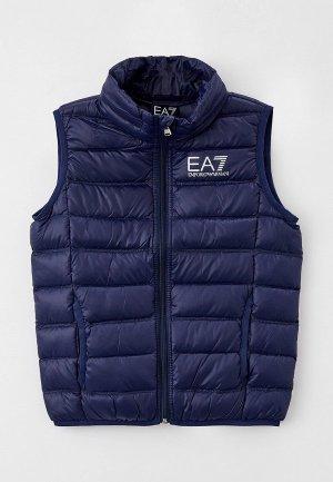 Жилет утепленный EA7. Цвет: синий