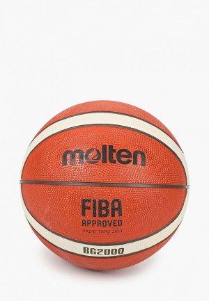 Мяч баскетбольный Molten. Цвет: коричневый