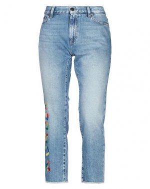 Джинсовые брюки-капри MIRA MIKATI. Цвет: синий