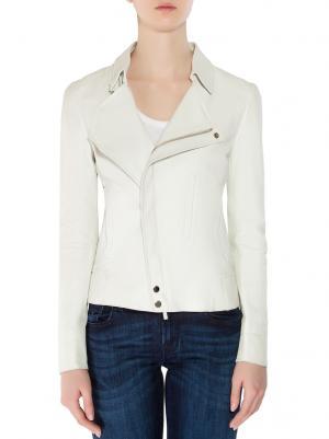 Кожаная куртка GUCCI. Цвет: белый