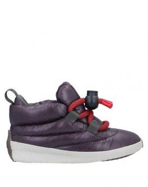 Высокие кеды и кроссовки SOREL. Цвет: фиолетовый