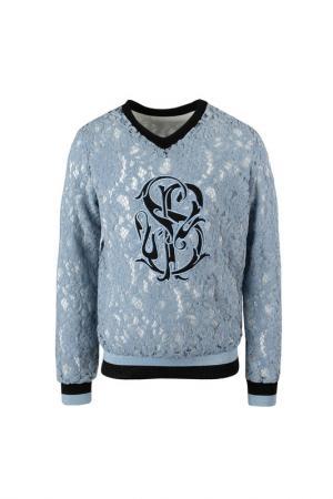 Пуловер STEFANIA. Цвет: голубой