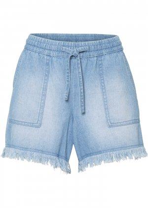 Шорты джинсовые с большими карманами bonprix. Цвет: синий