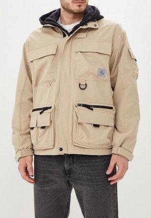 Куртка Carhartt. Цвет: бежевый